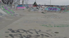 Extreme Sport Lifestyle Shot - Skateboard Park Establishing Shot Stock Footage