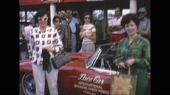 Vintage 16mm film, Jaguar E-Type pace car, 1963 Stock Footage