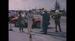 Vintage 16mm film, starting line Ferrari 250 TR, 1963 Stock Footage