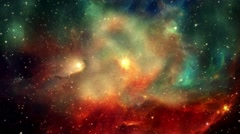 Nebulae Cosmic Space Flight Looped Backgrounds - stock footage