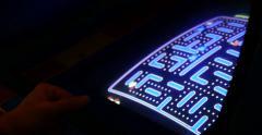 Man Playing Retro Classic Pinball 4k Stock Video Stock Footage