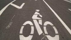 Pan Up Bike Lane in California Stock Video Stock Footage