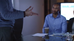 4K Happy attractive young business group clapping in a business meeting - stock footage