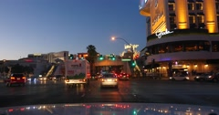 Sunset Driving on las Vegas Strip 4K Stock Video Stock Footage