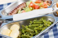 School lunch tray - stock photo