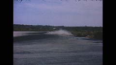 Vintage 16mm film, racing action Stock Footage