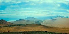 Mountain chain at sunset, Fuerteventura, Canary Islands, Spain - stock photo