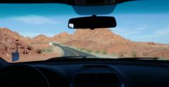 Driving Into Valley of Fire 4K Stock Video Stock Footage