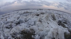 Floating of ice on the Ob river Stock Footage