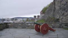 Akershus Fortress in the city of Oslo Norway Stock Footage