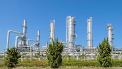 Petrochemical industrial plant in Thailand - stock photo