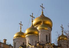 The Cathedral of the Annunciation in Kremlin, Moscow, Russia - stock photo