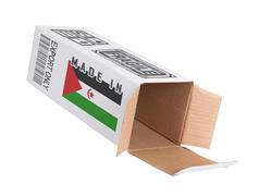 Stock Photo of Concept of export - Product of Western Sahara