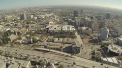 Aerial Shot of Hollywood Freeway Stock Footage