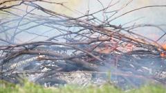 timelapse ultra closeup fire - stock footage