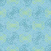 Lily seamless pattern Stock Illustration
