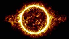 Orange star atmosphere Stock Footage