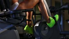 Cycling at the gym Stock Footage