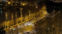 River Tiber. View from the orangery. Rome, Italy. 1280x720 Stock Footage