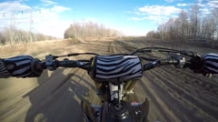 Highspeed motocross action cool POV Stock Footage