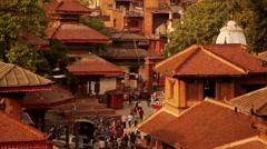 Kathmandu Durbar Square, Nepal Stock Footage