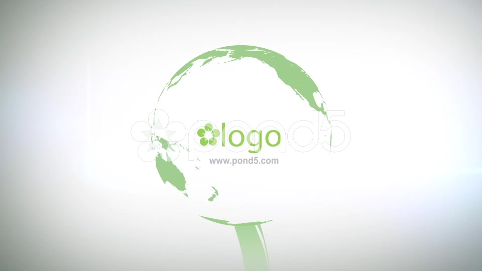 After Effects Project - Pond5 Green Planet Logo Opener 49733779