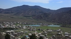 CRIMEA. APRIL 2011: A small village in the mountains Stock Footage