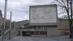 Norway Government building after terrorist attach - stock footage