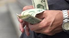 Paper Money, Bills, Currency, Dollars Stock Footage