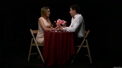 Love and affection between a young couple. Slow motion Stock Footage
