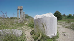 Rhodes  historical Apollo temple ruins columns in acropolis. Time-lapse 4K Stock Footage