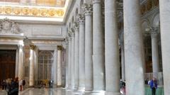 Basilica di San Paolo fuori le Mura. Rome, Italy Stock Footage