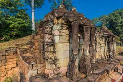 Elephant terrace Angkor Thom Stock Photos