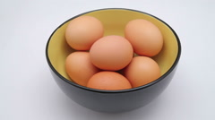 Chicken egg take Stock Footage