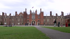 Hampton Court Palace entrance Stock Footage