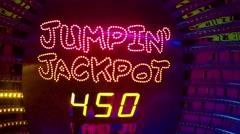 Casino jackpot lights Stock Footage
