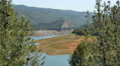 4K Don Pedro Reservoir 03 Dam at low water level California Yosemite Footage