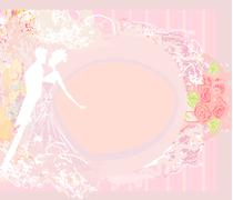 Wedding dancing couple background Stock Illustration