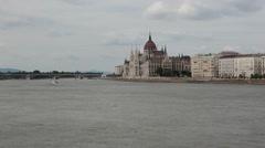 HUNGARY. DUNAY. JUNE 2011: waterfront views. Stock Footage