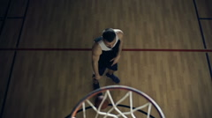 Scoring a Basket from Set Shot Stock Footage