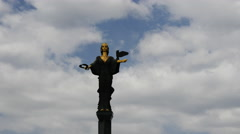 Time lapse from Statue of Saint Sofia in Sofia Bulgaria Stock Footage