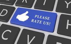 Rate us button - stock illustration