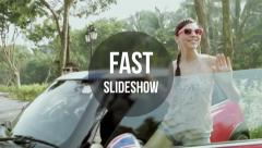 Stock After Effects of Fast Slideshow