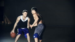 Playing Basketball Stock Footage