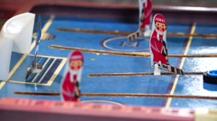 Stock Video Footage of Hockey Board game, a penalty from the left.