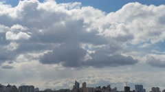 Clouds Over Urbanscape Time Lapse At 4K - stock footage
