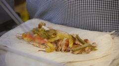 Slow motion kebab serve. Stock Footage