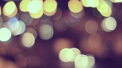 Night city defocused lights Stock Footage