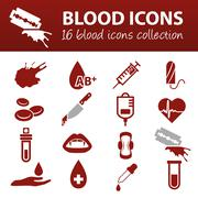 blood icons - stock illustration