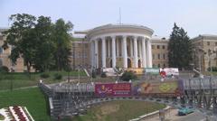 UKRAINE. KIEV. AUGUST 2011: city streets Stock Footage